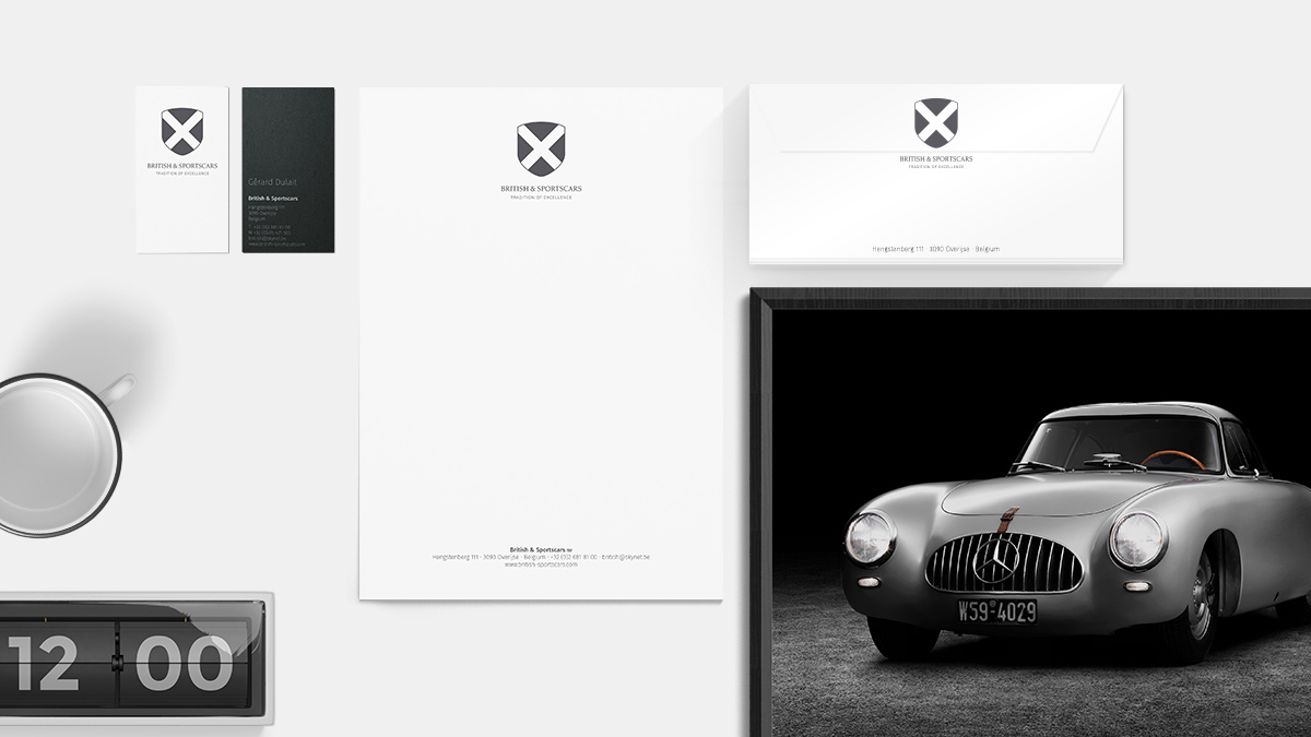 stationary british sportscars