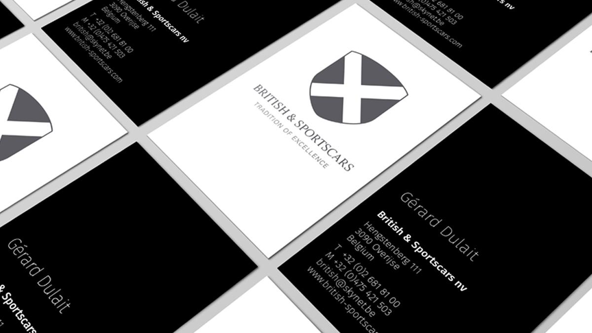 business card british sportscars