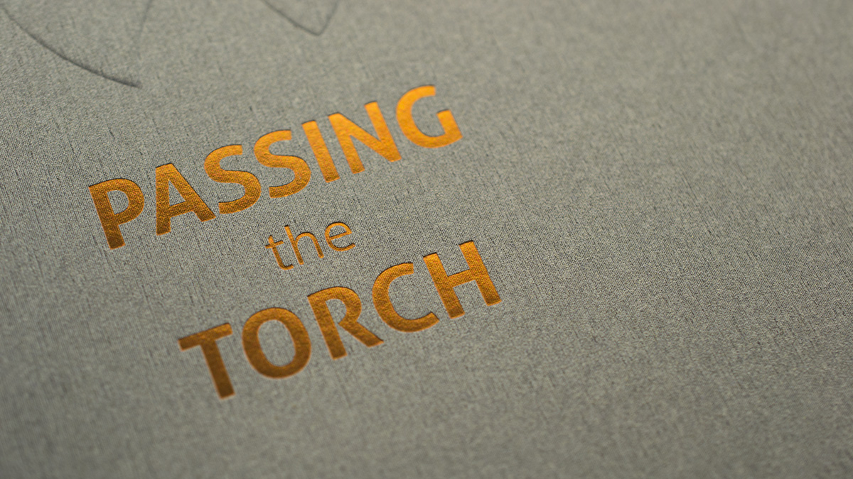 passing the torch close up