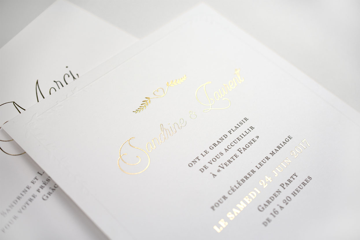 Sandrine & Laurent wedding - Invitation