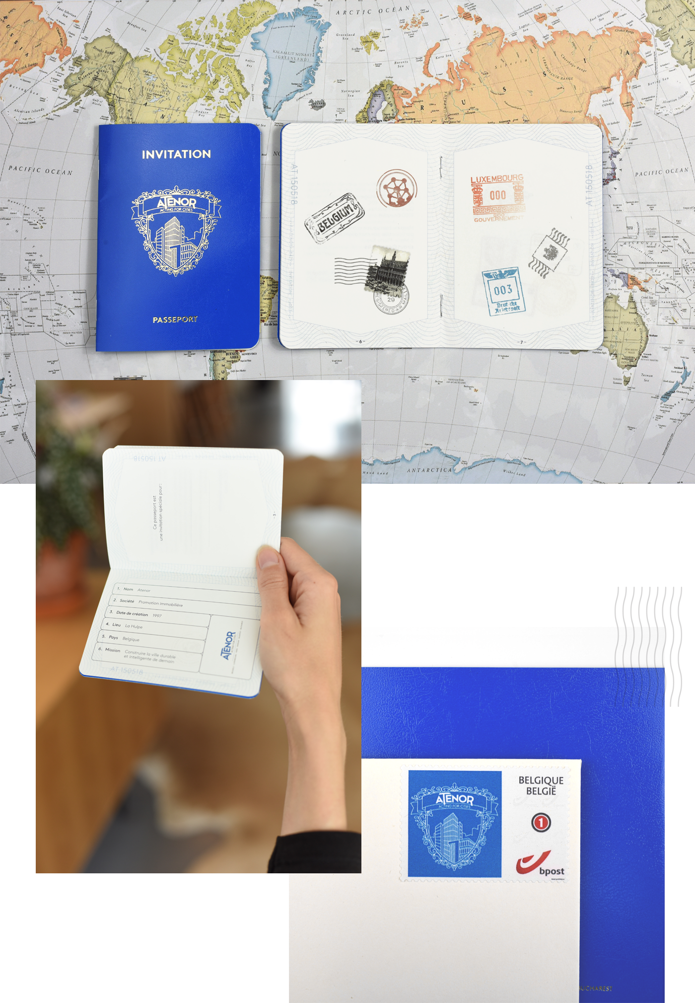 passport atenor on world map