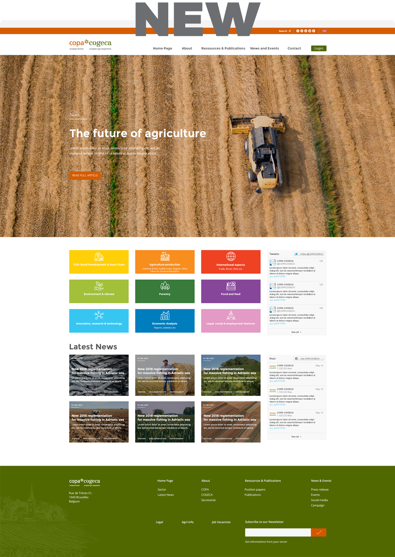 new copa cogeca website